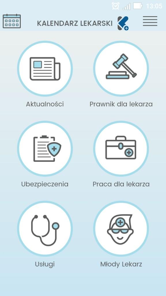 Aplikacja-Kalendarz-Lekarski-strona-główna-aplikacji