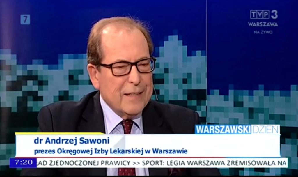 Andrzej Sawoni na antenie TVP3